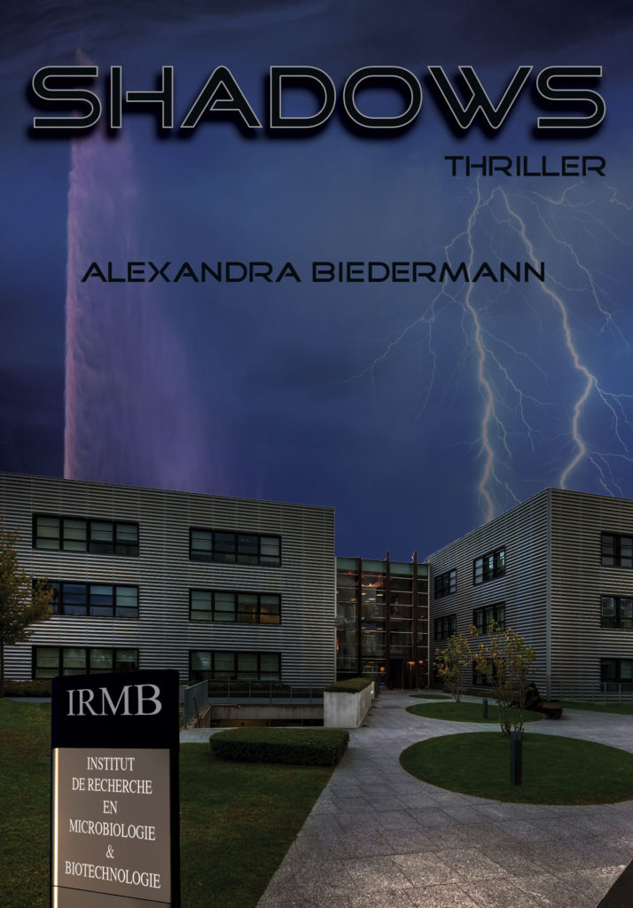 Page de couverture du thriller Shadows par Alexandra Biedermann.